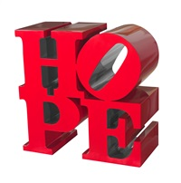 hope, red/silver by robert indiana