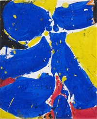 untitled (blue and yellow) by sam francis