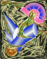 illustrations after el lissitzky's 'had gadya': a. had gadya: front cover by frank stella