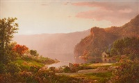 twilight landscape by william louis sonntag