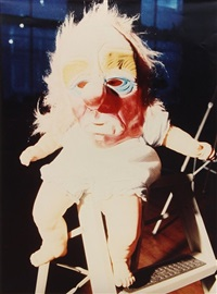 doll with mask by cindy sherman