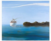 where the santa ana meets the sea by julio larraz