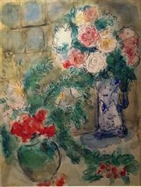 les deux bouquets by marc chagall