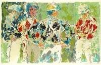 four jockeys by leroy neiman