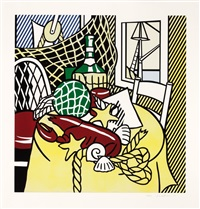 still life with lobster by roy lichtenstein