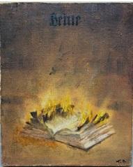ohne titel (das brennende buch) by vitaly komar