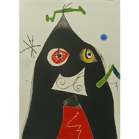 plate i from quatre colors aparien el mon by joan miró