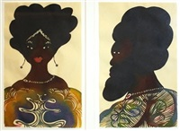 untitled (diptych) by chris ofili