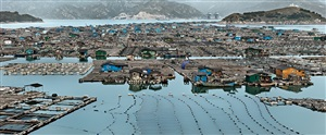 marine aquaculture #2, luoyuan bay, fujian province, china, by edward burtynsky