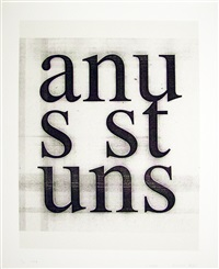 anus stuns by christopher wool