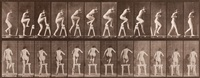 stepping on and over a trestle by eadweard muybridge