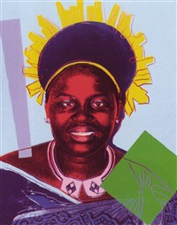 reigning queens: queen ntombi twala of swaziland by andy warhol