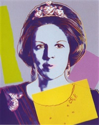 reigning queens: queen beatrix of the netherlands by andy warhol