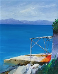 calm waters, the aegean by donald hamilton fraser