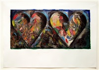 two hearts for the moment by jim dine