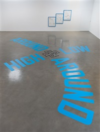 around & around<br /> high & low by lawrence weiner