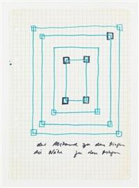 untitled, der abstand zu den dingen - die nähe zu den dingen, late 1960s by sigmar polke