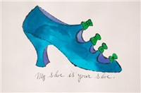 my shoe is your shoe by andy warhol