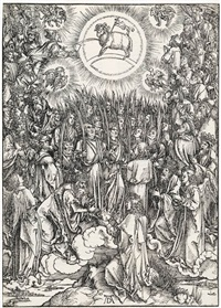 the adoration of the lamb (the hymn of the chosen) by albrecht dürer