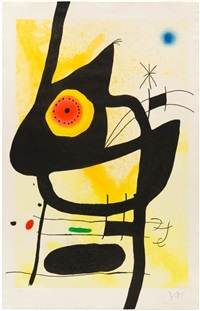 la femme des sables (woman of the sands) by joan miró