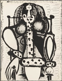 la femme au fauteuil, no. 2 (woman in armchair, no. 2) by pablo picasso