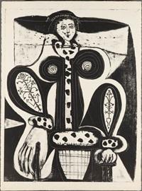 la femme au fauteuil (woman in armchair) by pablo picasso