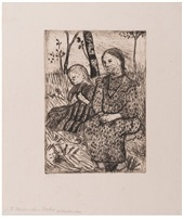 zwei bauernmädchen by paula modersohn-becker
