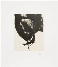 nocturne viii, from octavio paz suite by robert motherwell