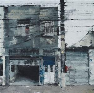 maison à la porte bleue by philippe cognée