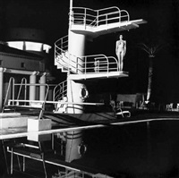 diving board, old beach hotel, monte carlo by helmut newton