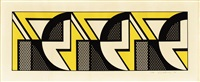 repeated design by roy lichtenstein