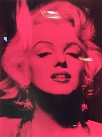 marilyn portrait i by russell young