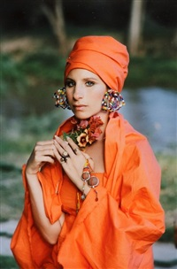 kenya portrait in orange by steve schapiro