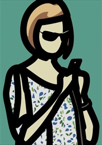 tourist with blouse by julian opie
