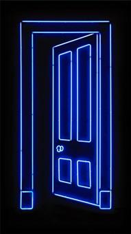 blue door by gavin turk