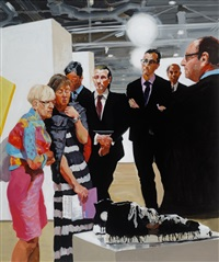 art fair: booth #1 oldenburg's sneakers by eric fischl