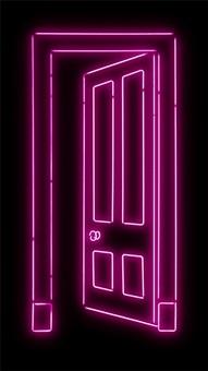 pink door by gavin turk