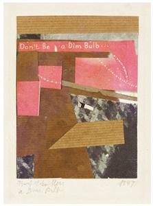 works on paper by kurt schwitters