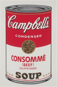 campbell's soup: consommé beef (fs ii.52) by andy warhol