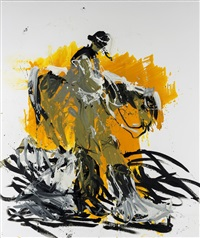 olaf wieghorst unterwegs im schnee (remix) / olaf wieghorst on his way in the snow (remix) by georg baselitz