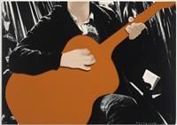 person with guitar (orange) by john baldessari