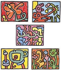 flowers by keith haring