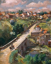 pont de nid d'oie, france by colin campbell cooper