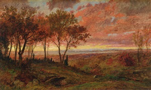 autumn sunset by jasper francis cropsey
