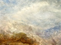 j.m.w. turner, falls of schaffhausen ('the val d'aosta') 1845 by hiroyuki masuyama