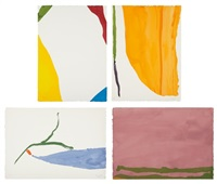 four pochoirs by helen frankenthaler