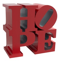 hope (red/silver) by robert indiana