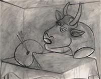palette et tête de taureau by pablo picasso