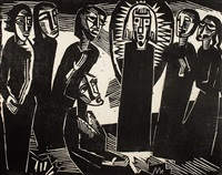 christus unter den frauen (christ among the women) by karl schmidt-rottluff