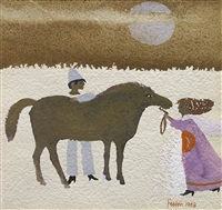 girl, horse and clown by mary fedden